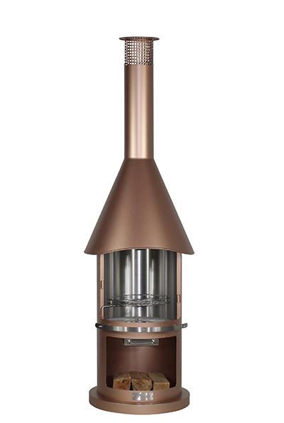 Firestar DN 550 Grillkamin Aztekenofen bronze