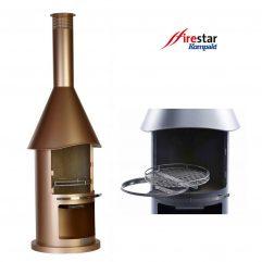 firestar Kompakt Aztekenofen Gartenkamin Gartengrill bronze DN 650