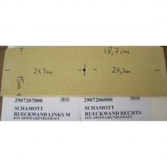 Oranier Artos 8151 Rückwand rechts mit Loch - 2907206000