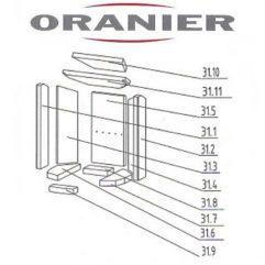 Oranier Pori 5 Serie 2 Schamottesteine Feuerraum Auskleidung komplett - 2910667000