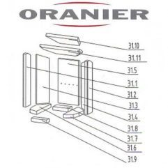 Oranier Pori 5 Serie 2 Umlenkstein groß Pos. 31.11 - 2901304000