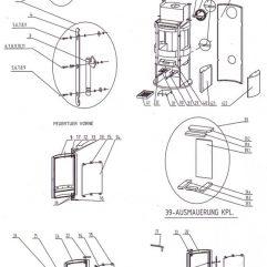 Justus Oranier Rondo 7 4674 Schamotte Feuerraum Auskleidung komplett Ersatzteile - 2910853000