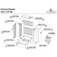 Spartherm Arte 1Vh-66 Bodensteine Komplett 1038327Spartherm Arte 1Vh-66 Bodensteine Komplett 1038327