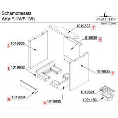 Spartherm Arte F-1V F-1Vh Bodensteine Bodensatz 1021278