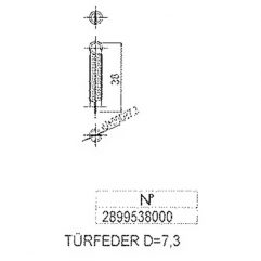 Justus Grönland 4673-6 Türfeder Ersatzteile