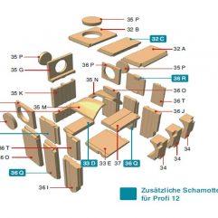 Olsberg Profi 7 Plus, 12 Plus Abdeckstein hinten Pos. 32B - 21/5741-1263