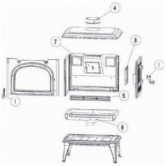 Leda Antigua S Bodenstein-Set, 3-teilig Pos. 6 - 1005-02257