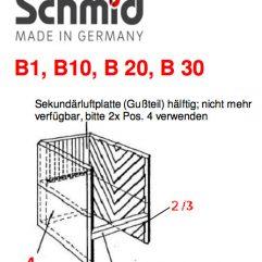Schmid B1 B10 B20 B30 Riemchenstein 5 Ersatzteile 74/2000-1252