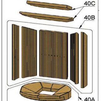 Oranier Polar 8 Umlenkung Umlenkplatten 4654-8 Serie 4 Pos. 40C - 2919340000