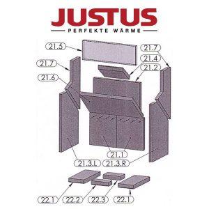Justus Grönland 4673-6 Seitenplatten oben Pos. 21.7 - 2910258000 - 2 Stück