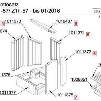 Spartherm Mini Z1 57 / Z1h 57 Bodenstein vorne Pos. 1 - 1011377