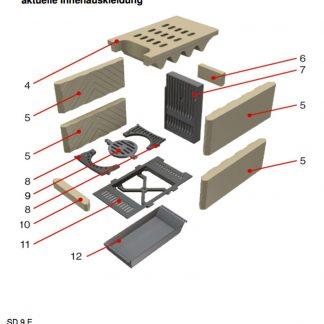 Schmid SD 9 E Seitensteine Paket mit 4x Seitenstein Pos. 5 - 67/2090-2257