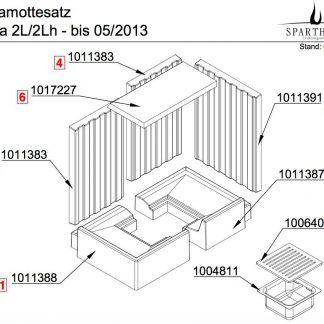 Spartherm Varia 2L / 2Lh Prallplatte - 1017227