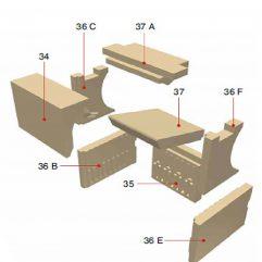Olsberg Creation 9 Schamottesatz komplett - 21/5631-9200