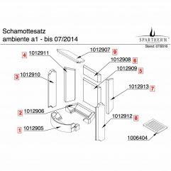 Spartherm Ambiente A1 Bodensteine komplett bis 2014 - 1016193