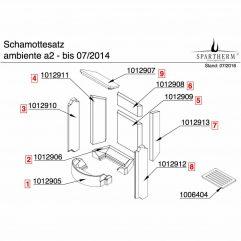 Spartherm Ambiente A1 A2 A3 A4 Seitensteine Wandsteine komplett bis 2014 - 1016194