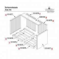Spartherm Arte Xh Bodensteine links vorne + rechts hinten Pos. 1+4 - 1014375